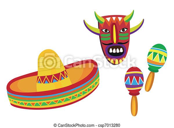 Mexican Symbols  - csp7013280