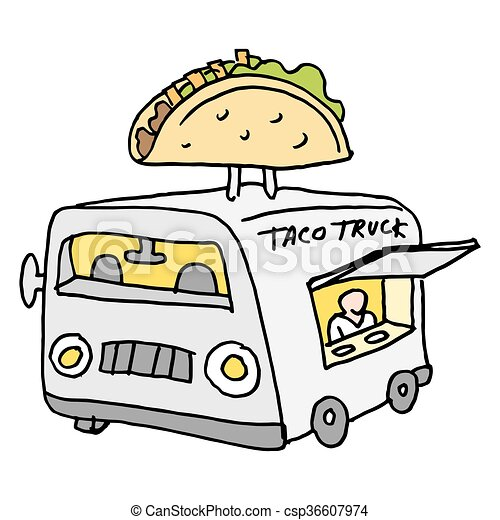 Mexican Taco Food Truck Vector