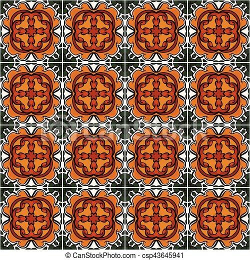 Mexican tiles - csp43645941