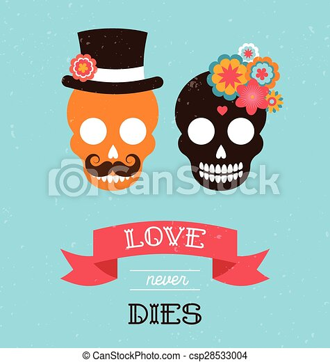Mexican wedding invitation with two hipster skulls mexican mexican wedding invitation with two hipster skulls csp28533004 stopboris Image collections