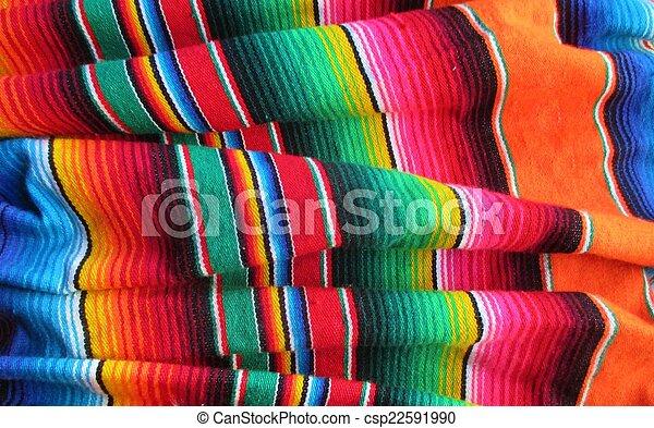 mexicano, mayo, de, fiesta, cinco, fundo, serape, cobertor - csp22591990