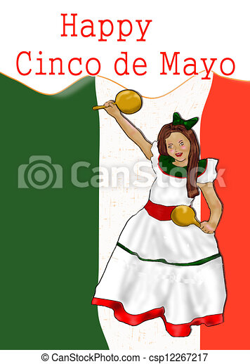 Mexicano Niña Vestido Poco Mexicano Mi Mayo De