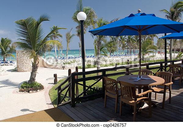 mexico beach cafe - csp0426757