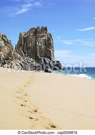 Mexico Beach Walk - csp0059816