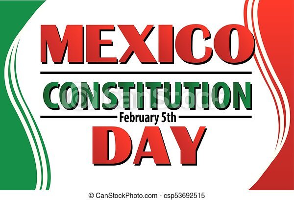 mexico constitution day with mexican flag border