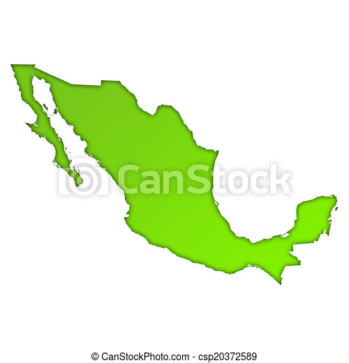 mexico country map icon csp20372589