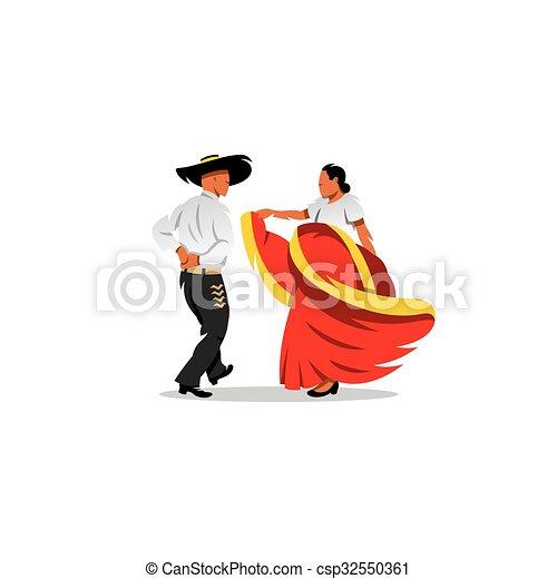 Mexico dancers participates at the cinco de mayo festival clip mexico dancers participates at the cinco de mayo festival vector illustration sciox Choice Image