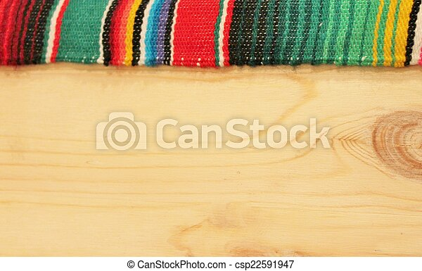 Mexico Fiesta background with wood - csp22591947