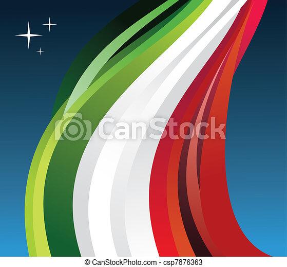 Mexico flag illustration - csp7876363