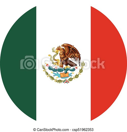 round mexico flag vector icon isolated on white background rh canstockphoto com mexican flag vector art mexican flag vector free
