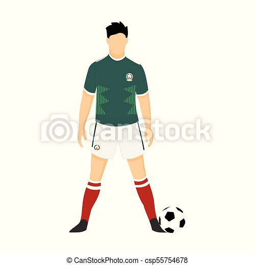 the best attitude 91a5f 26112 Mexico Football Jersey National Team World Cup Illustration