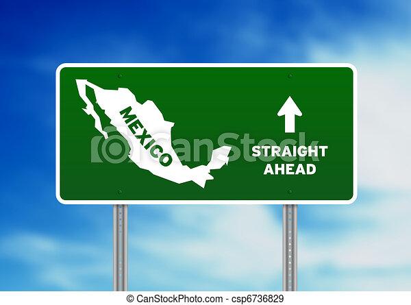Mexico Highway Sign - csp6736829