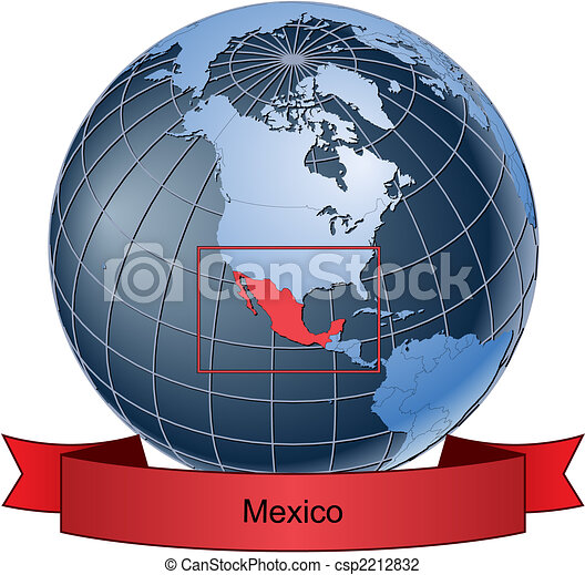 Mexico position on the globe vector version with separate layers mexico csp2212832 gumiabroncs Images