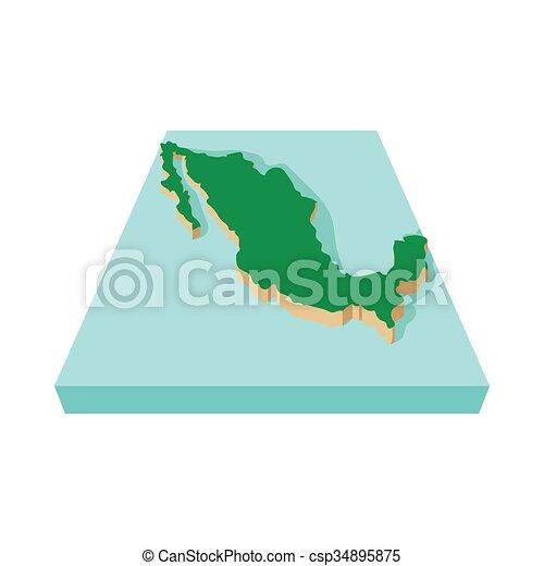 Mexico map icon cartoon style mexico map icon in cartoon mexico map icon cartoon style csp34895875 gumiabroncs Choice Image