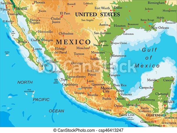 Mapa de ayuda a México - csp46413247