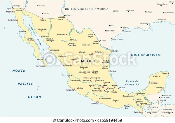 mexico vector map - csp59194459
