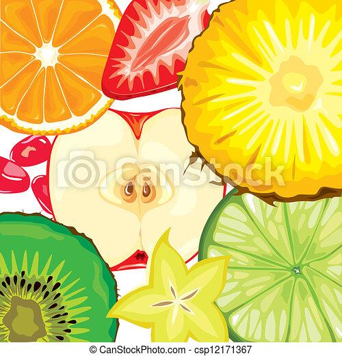mezcla, fruta - csp12171367