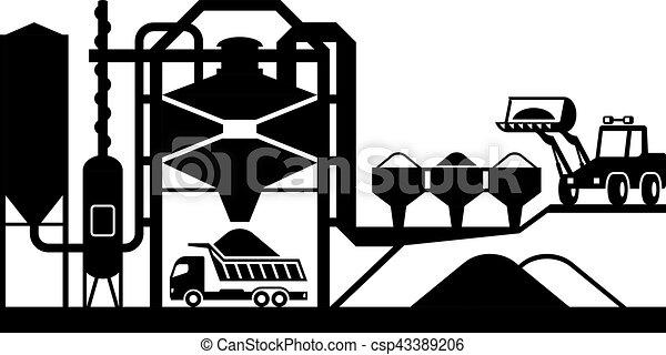 Planta de mezcla de asfalto - csp43389206