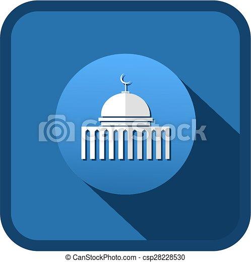 Ícono de la mezquita - csp28228530