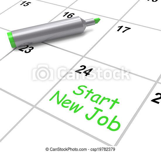 Calendario Significato.Mezzi Uno Inizio Lavoro Nuovo Posizione Calendario Giorno