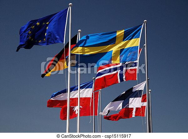 międzynarodowe bandery - csp15115917