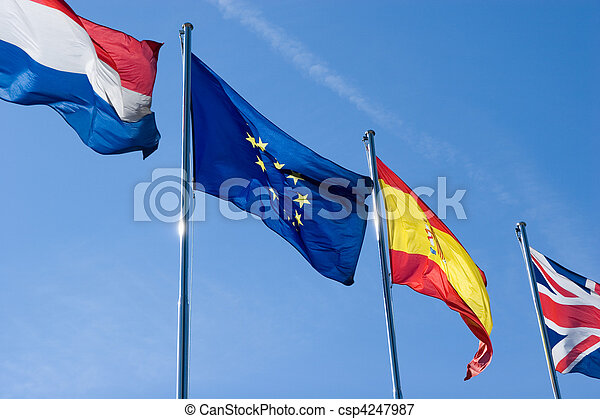 międzynarodowe bandery - csp4247987