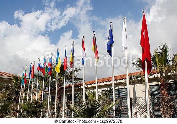międzynarodowe bandery - csp9972578