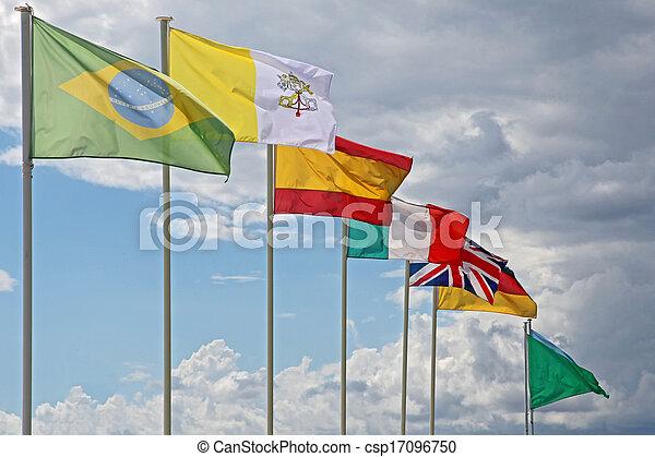 międzynarodowe bandery - csp17096750