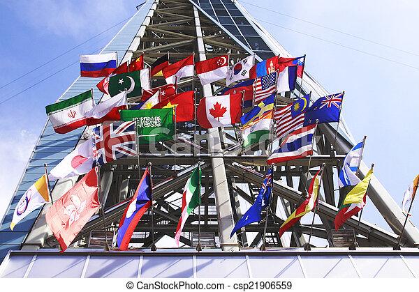 międzynarodowe bandery - csp21906559