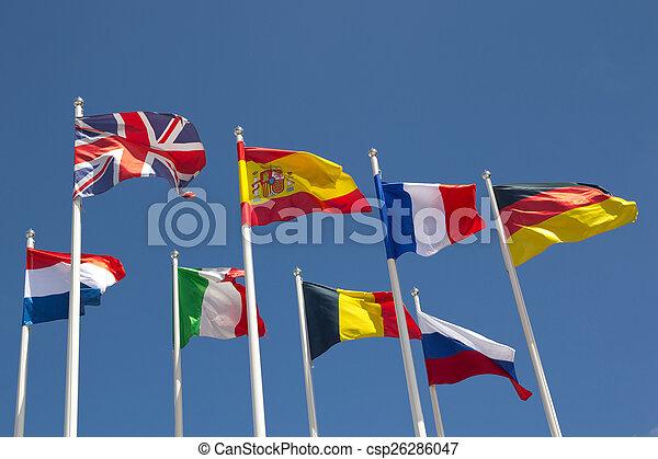 międzynarodowe bandery - csp26286047