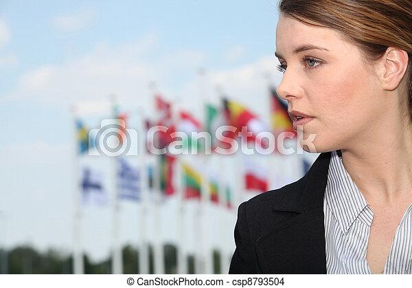 międzynarodowe bandery - csp8793504