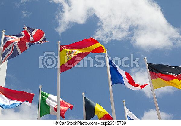 międzynarodowe bandery - csp26515739