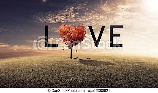 miłość, drzewo - csp12380821