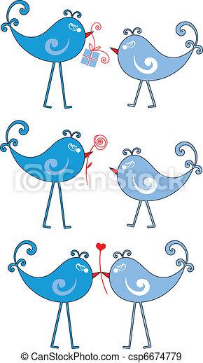 miłość ptaszki - csp6674779