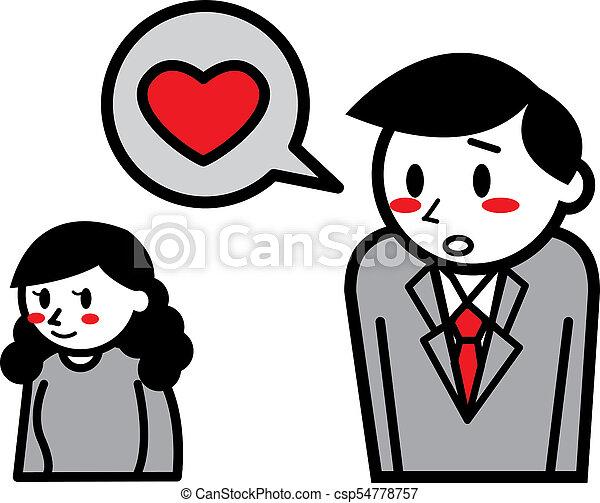 miłość, upadek - csp54778757