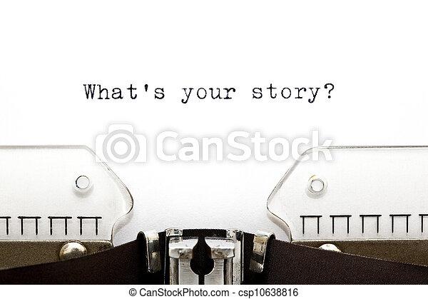 mi, írógép, sztori, -e - csp10638816