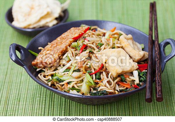 Mi goreng,mee goreng Indonesian cuisine - csp40888507