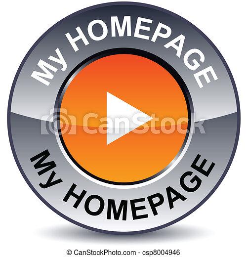 mi, página principal, redondo, button. - csp8004946