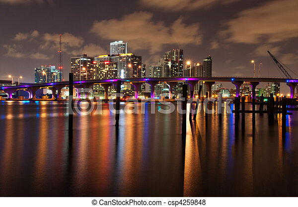 Miami at night - csp4259848
