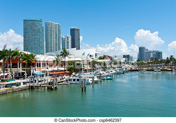 El mercado de Miami Bayside - csp6462397