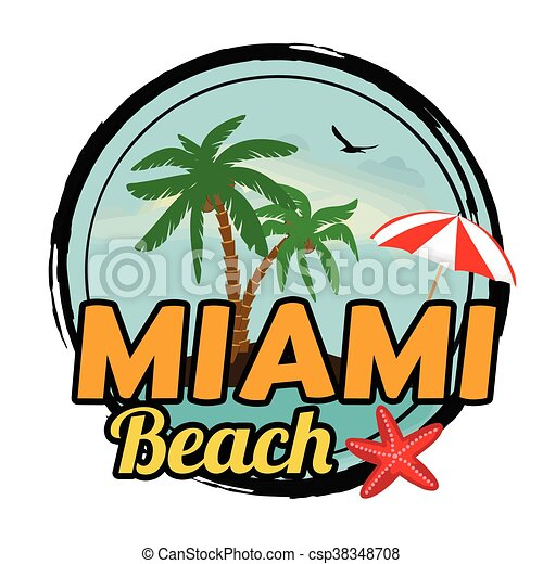 miami beach sign miami beach concept in vintage graphic vector rh canstockphoto com beach vector background beach vector free download