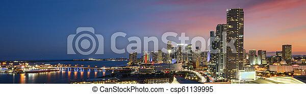 Miami en el centro por la noche - csp61139995