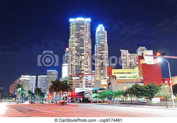 Miami en el centro - csp9174461