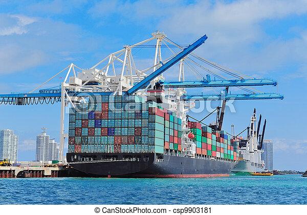 miami, cargo, port - csp9903181