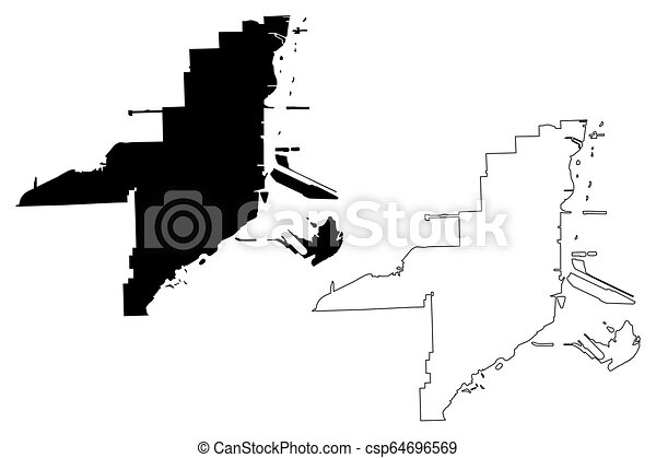 Miami City map - csp64696569