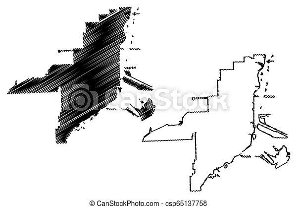 Miami City map - csp65137758