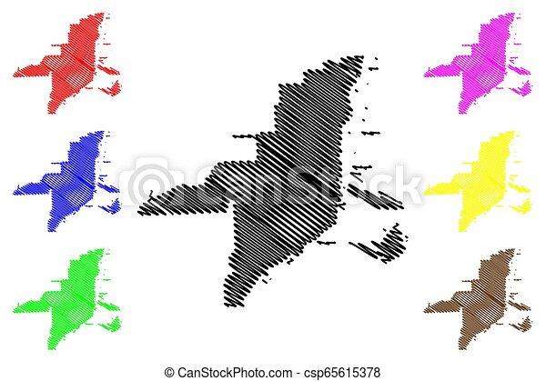 Miami City map - csp65615378