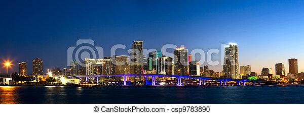 Miami skyline panorama - csp9783890