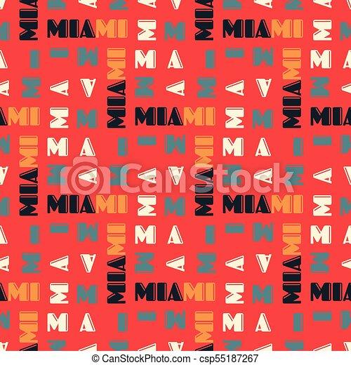 Miami pattern seamless design - csp55187267