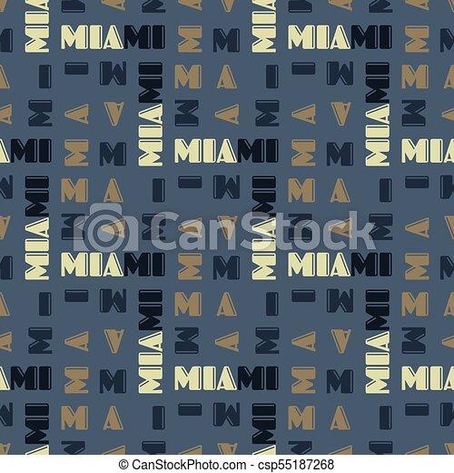 Miami pattern seamless design - csp55187268
